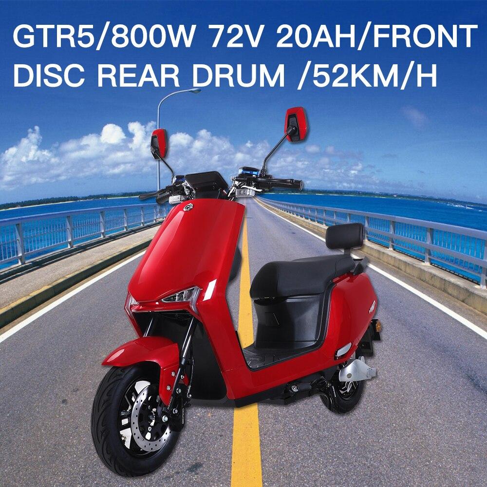 GTR5 haute vitesse 800W Moto électrique Scooter électrique pour femmes adultes hommes LCD affichage vélo électrique véhicule Moto électrique