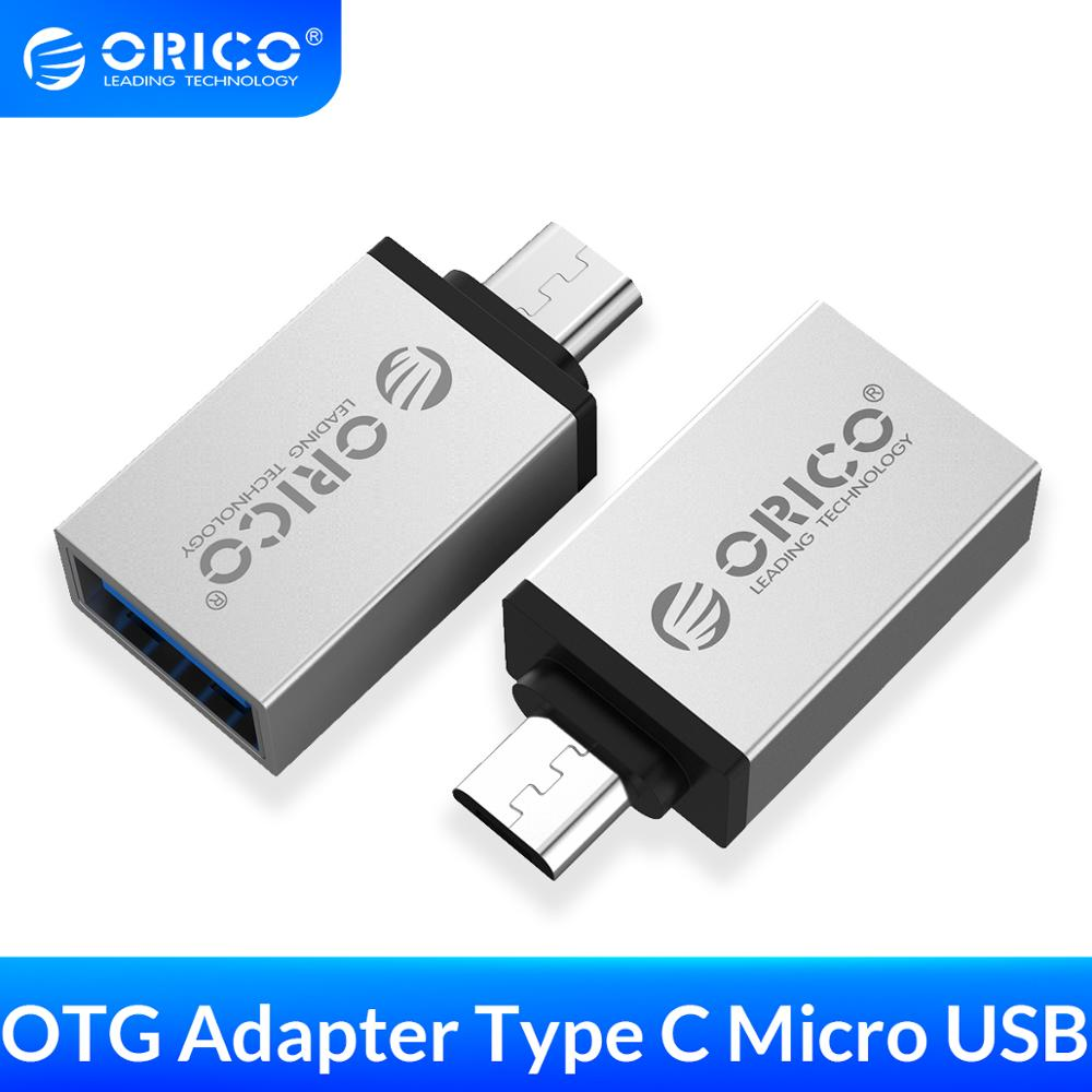 ORICO Micro b to Type c OTG Adapter USB-c USB 3.0 Converter Charging Data Sync Adapter for Xiaomi(China)