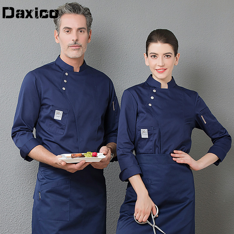 Long/short Sleeve Man Western Restaurant Chef Jacket Woman Cafe Kitchen Work Wear Bakery Cooking Tops Fast Food Chef Uniform