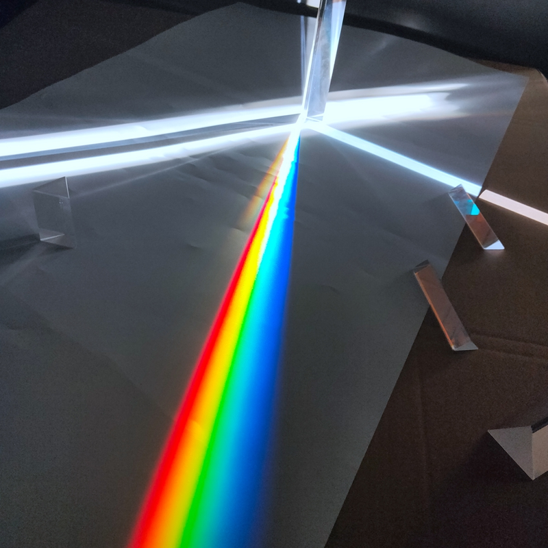 Optical Glass Triangular Prism Lens Small Experimental Equipment Mitsubishi Rainbow Refractor Photography Mirror
