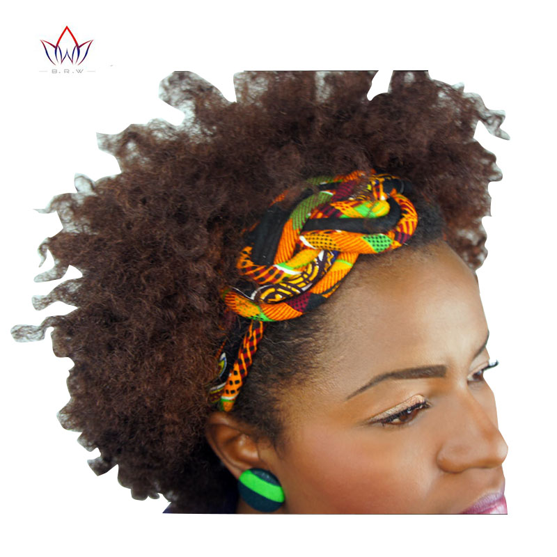 New Vintage Women Headbands Hair Accessories Beads African Printed Wax Headbands For Women Colorful Hair Sticks Hairbands WYS02