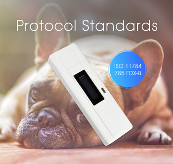 ISO11784/85 OLED Display Screen USB FDX-B Animal Chip ID Reader EMID Microchip Pet Animal RFID Scanner with Bag