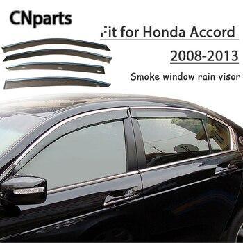 Piezas de coche 4 Uds ABS para Honda Accord 2008 2009 2010-2013 visera de humo de coche mantener aire fresco convección Accesorios