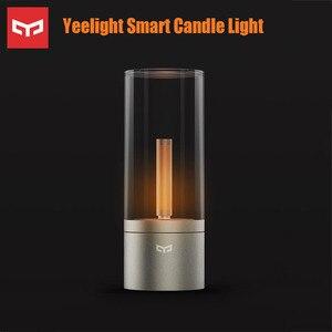 Image 1 - Luz de vela Yeelight, luz led nocturna de Control inteligente romántica, regalo de cumpleaños, luz de vela con aplicación yeelight para chica