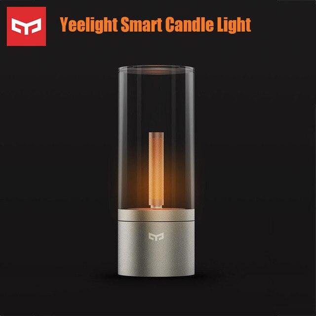 Yeelight カンデラライトロマンチックなスマート制御 led ナイトディナーライト誕生日の贈り物 yeelight アプリキャンドルライト
