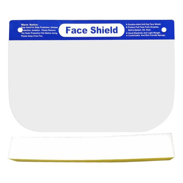 10PCS Face Shield Protection Full Face Protect Anti Saliva PVC Anti Foam Covering Dust-proof Safety Shield Tool Clear Face Mask 1