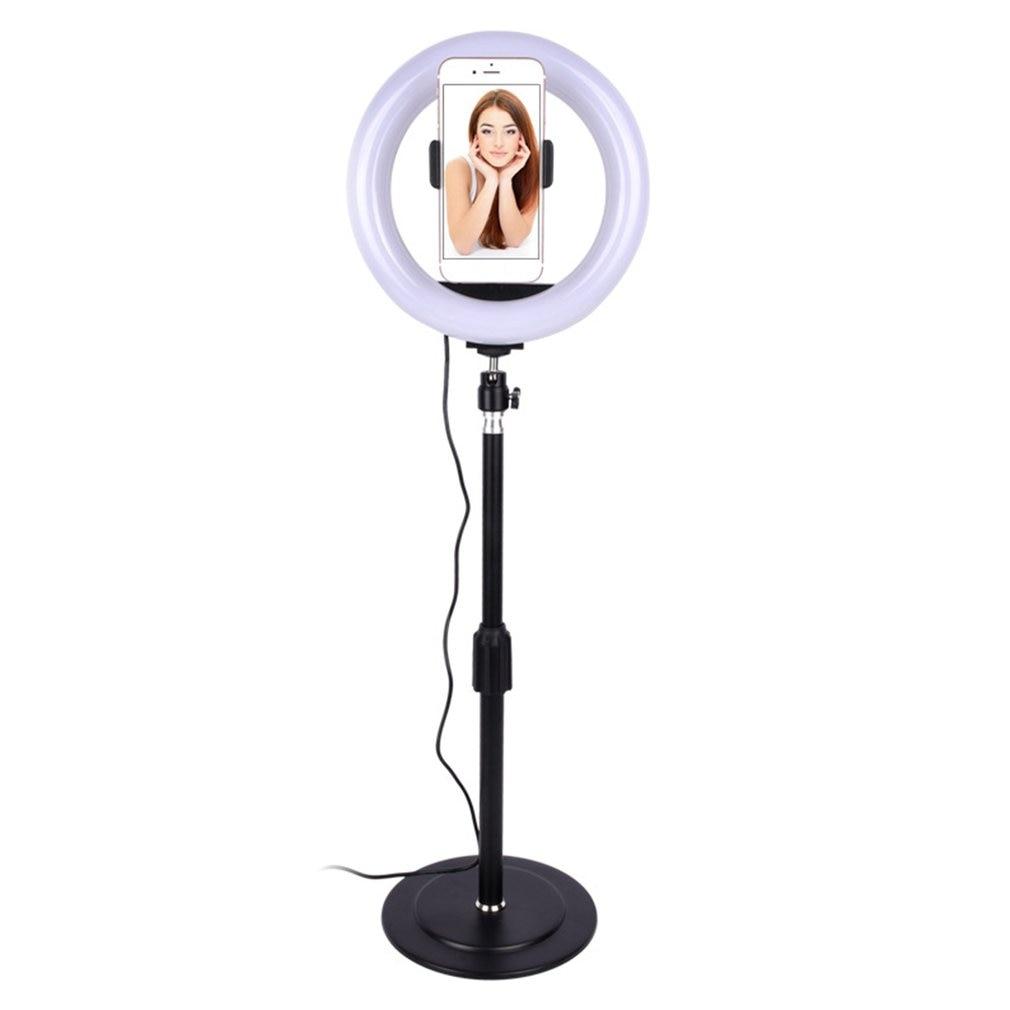 Tüketici Elektroniği'ten Makro ve Yüzük Işıkları'de Professionele fotoğrafçılığı ışık Dimbare LED stüdyo kamera halka ışık fotoğraf Telefoon Video lamba Selfie montaj title=