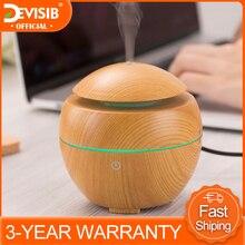 DEVISIB USB Aroma Essential Oil DiffuserอัลตราโซนิคCool Mist Humidifierเครื่องฟอกอากาศ7สีเปลี่ยนLED Night Light