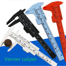 Protable 80mm vernier caliper diameter micrometer vernier caliper student DIY model making mini tool ruler measure plastic shan digital caliper 0 1000mm 0 01mm stainless steel gauge micrometer lcd paquimetro ferramentas measure tools