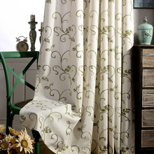 High Quality Embroidered Floral Curtains Blackout Modern Window  Curtain for Living Room Bedroom Custom Made Drapes Blinds 1 PCS