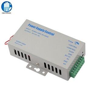Image 1 - DC12V 5A التحكم في الوصول امدادات الطاقة تحكم التبديل AC90V 260V المدخلات مع تأخير الوقت لمدة 2 أقفال إلكترونية نظام اتصال داخلي