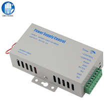 DC12V 5A Access Control Power Supply Controller Switch AC90V 260V Input with Time Delay for 2 Electronic Locks Intercom System