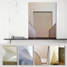 Canvas Painting Print Architecture stairs Corridor Space Abstract Poster Wall Art Pictures Living Room Home Decor Drop Shipping wall art canvas painting stairs corridor space buildings abstract poster print pictures for living room home decor drop shipping