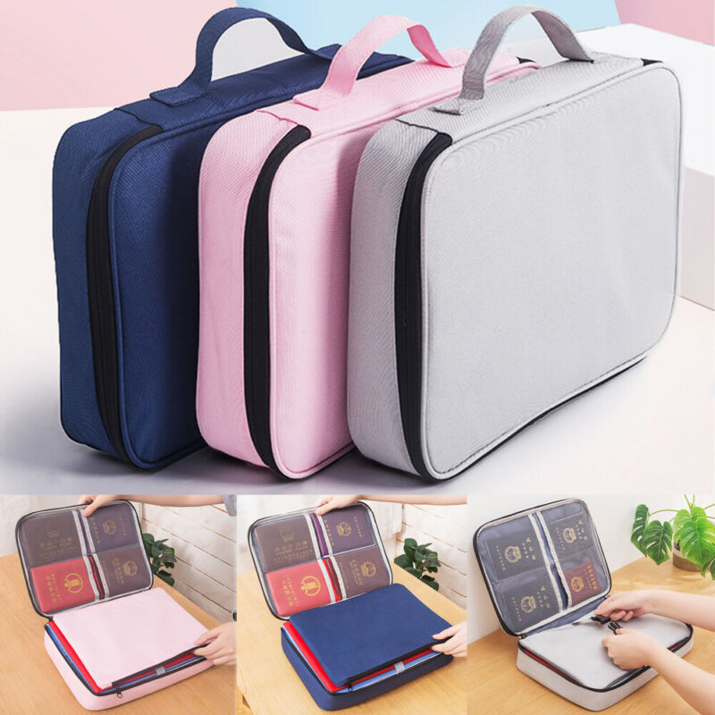 Document Storage Bag Family Large Capacity File Bill Document Sorting Bag Gift Rag Waterproof Shockproof Bag With Password Lock