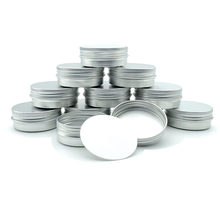 10pcs Cream Can Aluminum Box 30g Aluminum Tin Can, Lipstick Container, Empty Candle Can, Metal Cosmetic Container