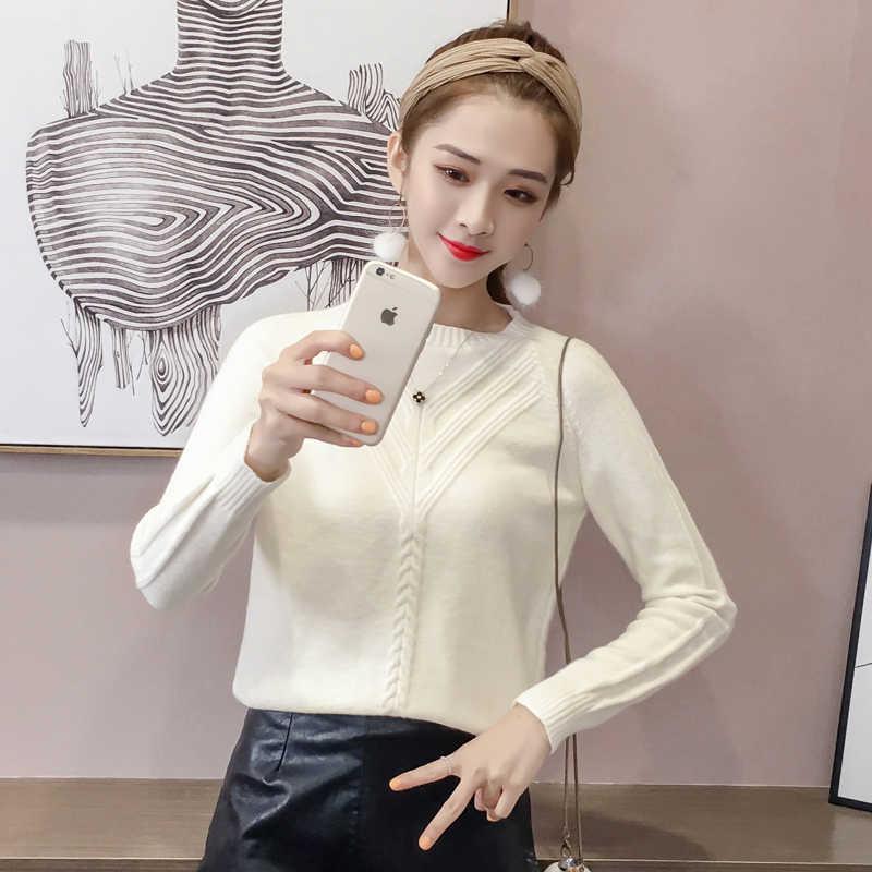 1610 # Awal Musim Gugur Gaya Baru 2018 Siswa Wanita Sweater Korea Longgar-Fit Kru Leher Sweater Mantel