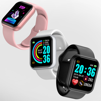 D20 Bluetooth-compatible Watches Men Waterproof Sport Fitness Tracker Smart Bracelet Blood Pressure Heart Rate Monitor Y68 6