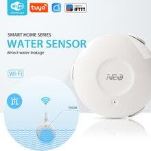 NEO COOLCAM WiFi Smart Water Sensor Water Flood Wi Fi and Leak Detector Alarm Sensor and App Notification Alerts No Hub Operated
