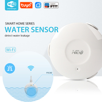 NEO COOLCAM WiFi Smart Water Sensor Water Flood Wi Fi and Leak Detector Alarm Sensor and App Notification Alerts No Hub Operated