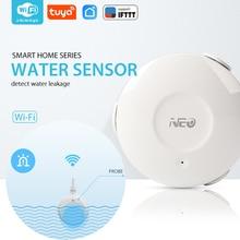 NEO COOLCAM WiFi akıllı su sensörü su sel Wi Fi ve kaçak alarmlı dedektör sensörü ve App bildirim uyarıları hiçbir Hub işletilen