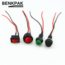 Push button switch car circuit wire speaker electrical mini boat shape round line