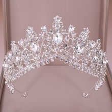 Luxury Crystal Rhinestone Bridal Crown Wedding Tiaras And Crowns Queen Diadem Pageant Party Bridal Hair Jewelry Accessories