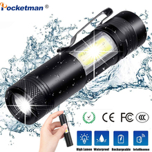 3800LM ZOOM Torch Mini Portable Working Emergency lamp XML-Q5+COB LED Flashlight Zoom Penlight Use AA14500 Battery Waterproof 3800lm xml q5 cob portable ultra bright handheld led flashlight with adjustable focus zoom mini torch use aa 14500 battery