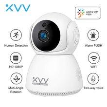 Xiaovv 1080P kamera IP niania elektroniczna Baby Monitor 360 ° Panora mi c PTZ bezprzewodowy Wifi kamery Night Vision detekcja ruchu kamera bezpieczeństwa dla Mi domu