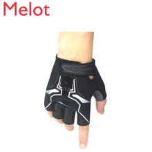 Folding Bicycle Half Finger Gloves Electric Bicycle Breathable Sweat Absorbing Gloves Sports Gloves Men