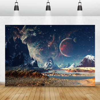 Laeacco Moon Earth Mountains Universe Little Astronaut Photography Backgrounds Birthday Backdrops Photocall Photo Studio Props laeacco baby shower photophone starry sky moon clouds photography backgrounds birthday backdrops newborn photocall photo studio
