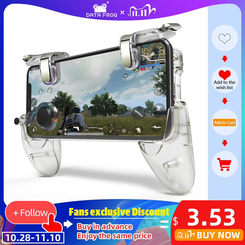 DATA FROG Game Controller Gamepad For PUBG L1R1 Shooter Trigger Fire Button Gamepad Joystick For iPhone Android Mobile Phone
