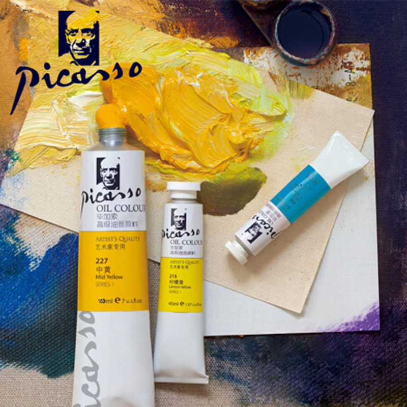 180ml Picasso Professional Oil Paints Set 12 Colors Master Specific Acrylic Paint Painting Pigment Art Supplies Artist Student