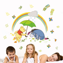 Disney Winnie Pooh 40*60cm Wall Decals Kids Rooms Baby Home Decor Cartoon Animals Stickers Pvc Mural Art Diy Posters Gifts