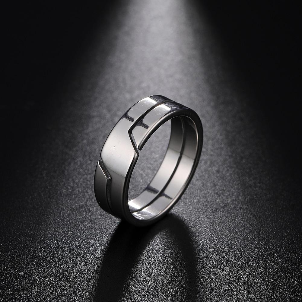 Skyrim модное простое кольцо для пар из нержавеющей стали для женщин и мужчин, повседневные кольца на палец, ювелирные изделия, Подарок на годо...