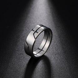 Skyrim mode Simple en acier inoxydable Couple anneau pour femmes hommes décontracté bagues bijoux fiançailles anniversaire cadeau 2021 nouveau