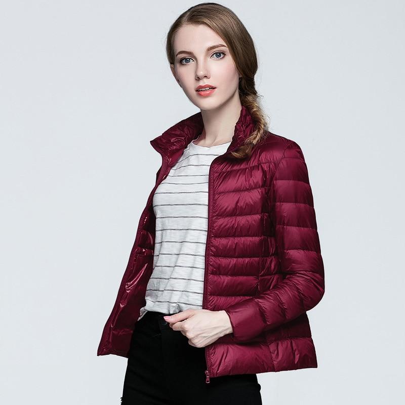 2019 Women Light Down Jacket High-end Fashion Winter White Duck Down Jacket Casual Outerwear Autumn Warm Jacket Coat Parkas
