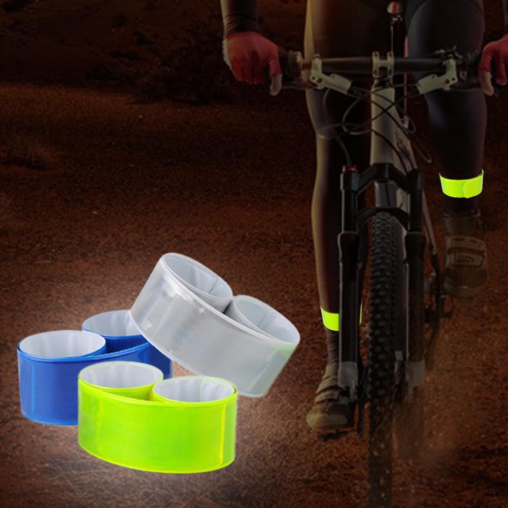 Riding Reflective Arm Belt Luminous Safety Riding Pants Leg Fastening Strip Fluorescent Silicon Steel Belt Riding Supplies 30E