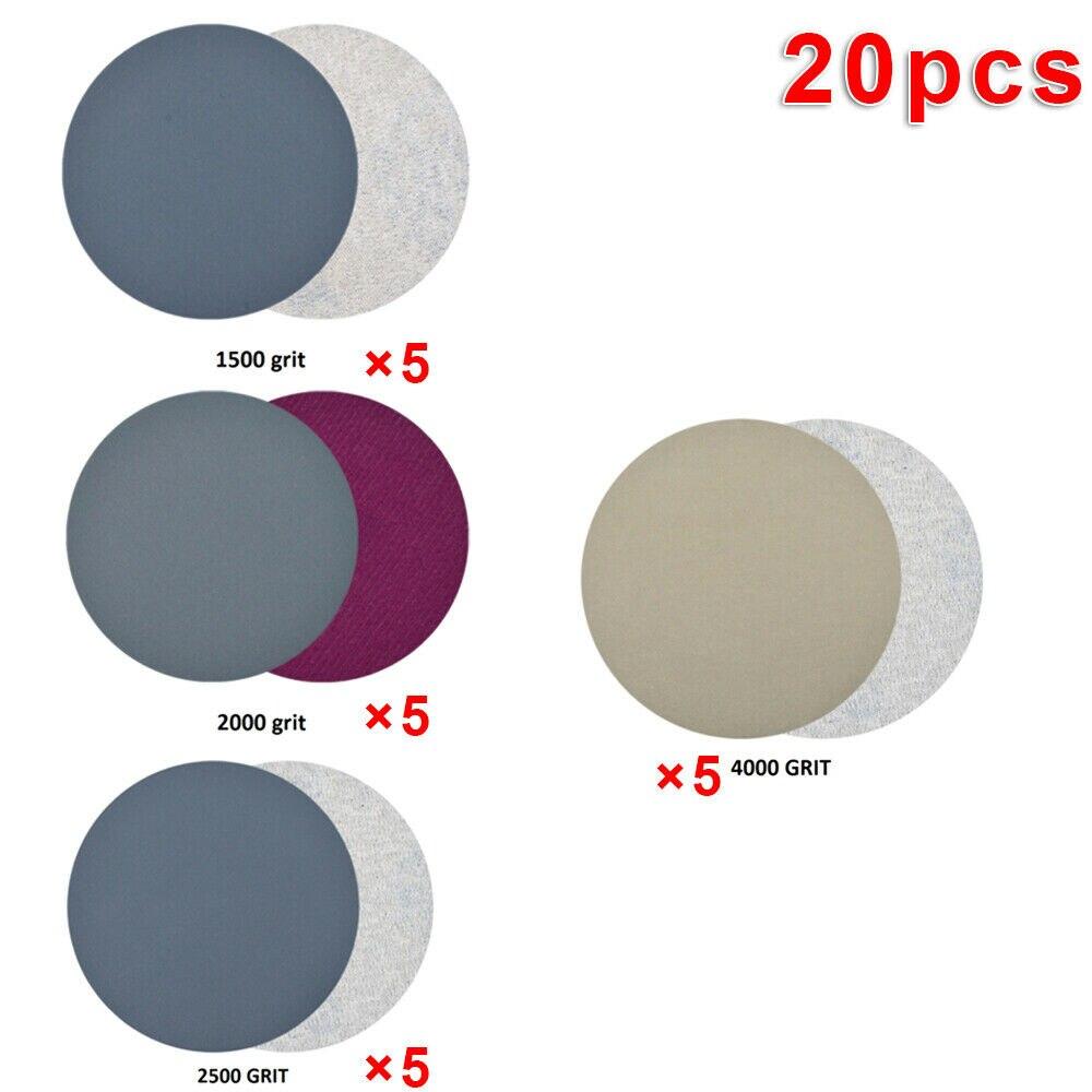 10x Sanding Disc Hook /& Loop Sandpaper Silicon Carbide Sander Pads Spare Parts