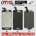 OTMIL для iPhone 5 5C 5S полная сборка ЖК-дисплей сенсорный экран дигитайзер полный комплект Pantalla ЖК-Замена + кнопка домой + камера