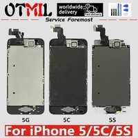 OTMIL Für iPhone 5 5C 5S Vollversammlung LCD Display Touch Screen Digitizer Full Set Pantalla LCD Ersatz + home Button + Kamera
