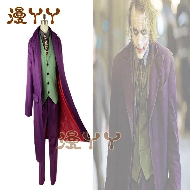 Image 3 - Cosplay Batman The Dark Knight Joker Cosplay Suit Full Set  Outfits Mens Halloween Costumes Fancy DressMovie