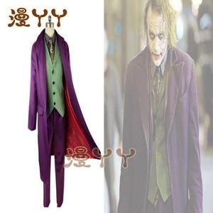 Image 3 - Cosplay Batman The Dark Knight Joker Cosplay Suit Full Set Outfits Mens Halloween Costumes Fancy Dress