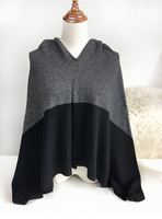 Cloak Poncho Women Knitted Cashmere Wool Blended Female Scarf Winter Warm Shawls Wraps Coat Sweater Hoodies Clothing