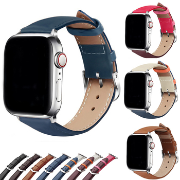 Bracelet Belt Genuine Leather Band for Apple Watch 42MM 38MM 44MM 40MM Strap for iWatch series 5 4 3 2 1 Watchband accessories modern buckle strap for apple watch band 38mm 40mm 42mm 44mm bracelet genuine leather weave watchband for iwatch 4 3 2 1 belt