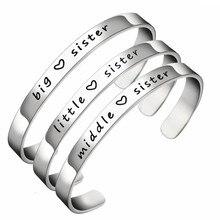 Fashion new titanium steel bracelet simple sister lettering factory wholesale