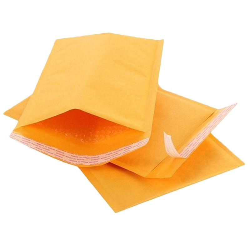 10pcs Different Sizes Yellow Kraft Paper Bubble Envelope Stationery Accessories