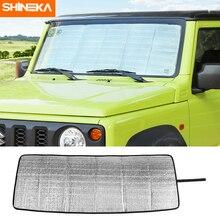 SHINEKA Windshield Sunshades For Suzuki Jimny JB74 2019+ Car Front Windshield Sun Visor Cover Accessories For Suzuki Jimny 2019+