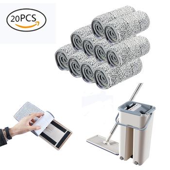 5 10 20 sztuk Mop do podłogi z mikrofibry tkaniny wymienić szmata Mop własny mokry i czyszczenia wklej Mop suchy Mop do czyszczenia tkaniny podłogowe domu łazienka tanie i dobre opinie Tkanina z mikrofibry 10 sekund Pokrywa tkaniny typu Metalowy kosz Z 1 mophead 15 minut 90 -100 300 ml Składane typu