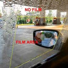 2 шт./компл. противотуманная Автомобильная зеркальная пленка прозрачная пленка анти-легкая Автомобильная зеркальная защитная пленка заднего вида Водонепроницаемая непромокаемая Автомобильная наклейка