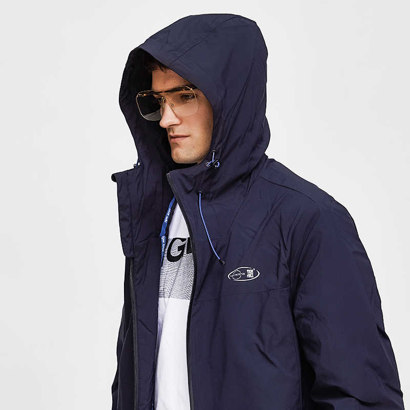 Tiger Force 2019 Мужская весенняя куртка, Повседневная ветровка с капюшоном, ветрозащитная мужская куртка-бомбер, мужская куртка с хлопковой подкладкой, верхняя одежда